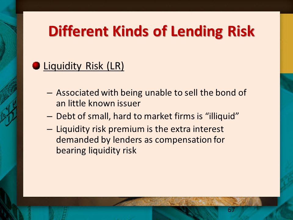 Different Kinds of Lending Risk