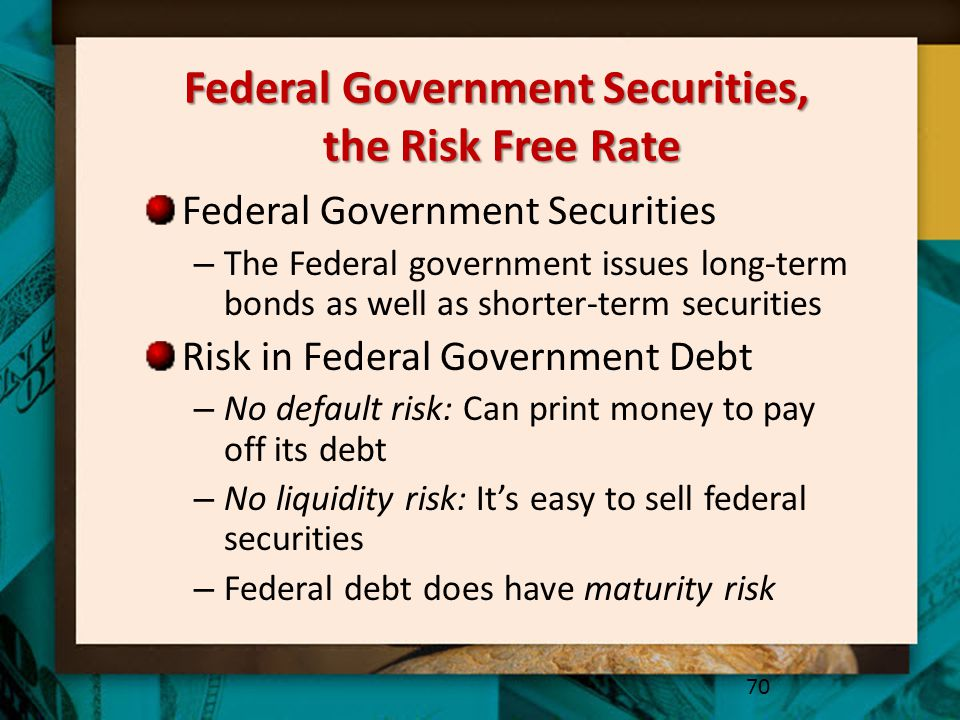 Federal Government Securities, the Risk Free Rate