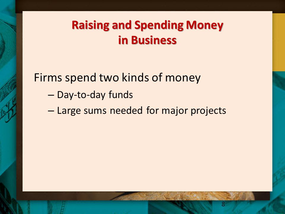 Raising and Spending Money in Business