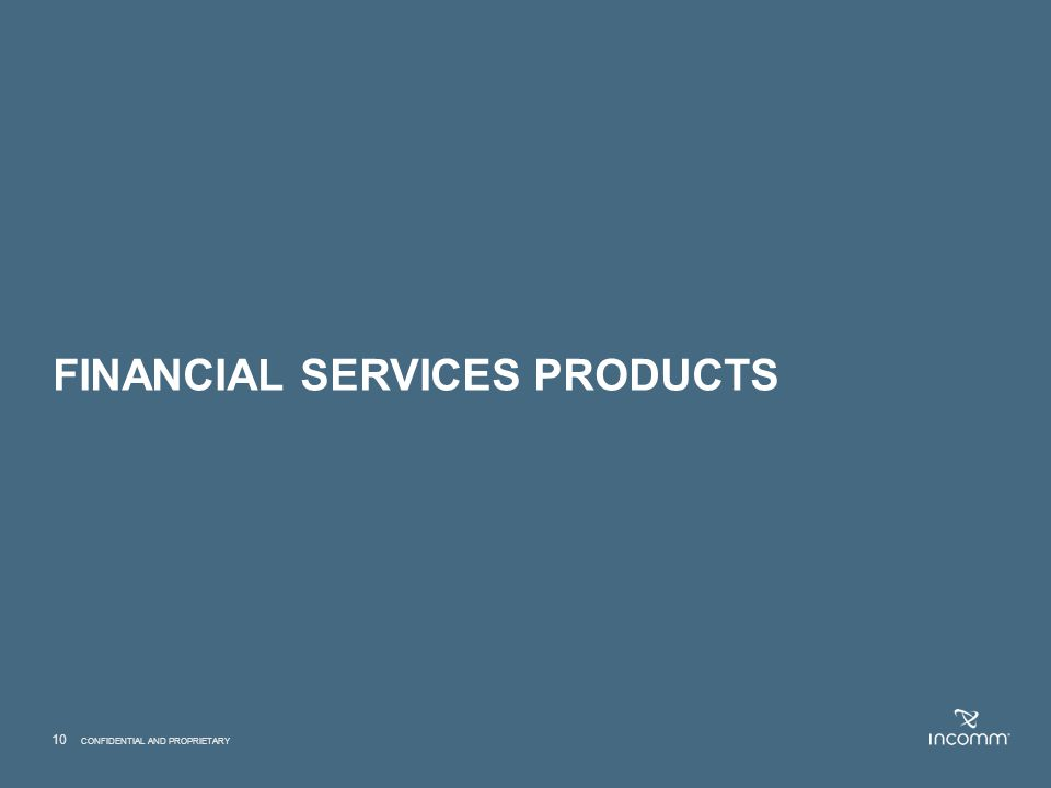 FINANCIAL SERVICES products