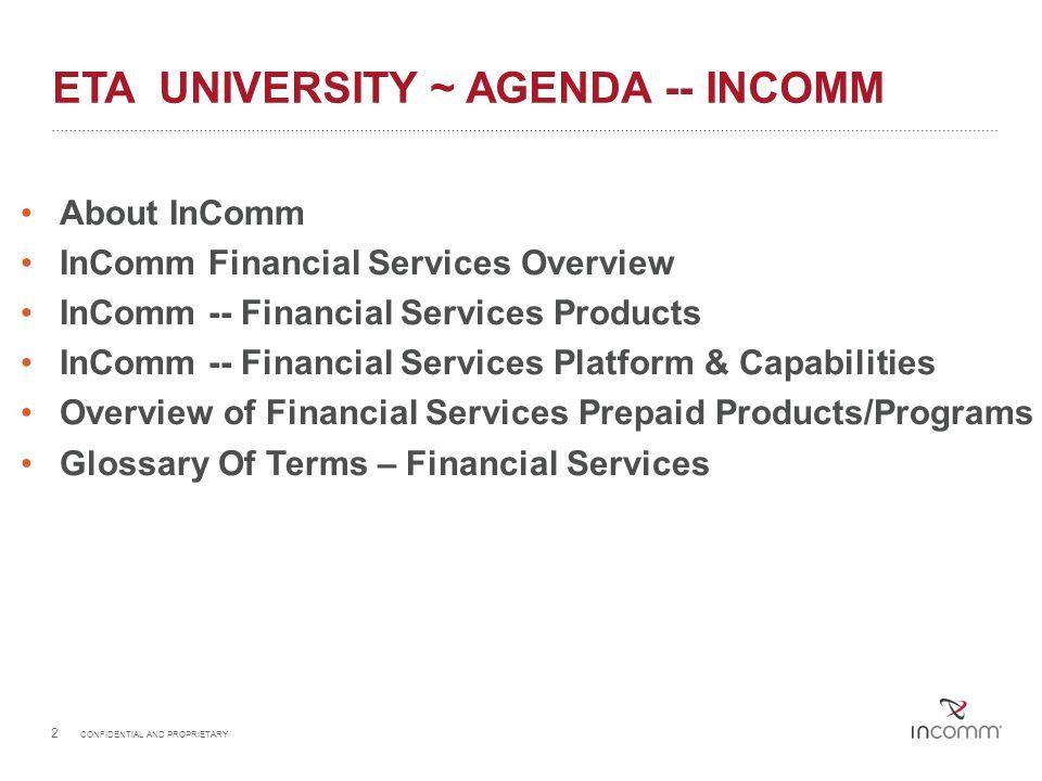 Eta university ~ Agenda -- incomm