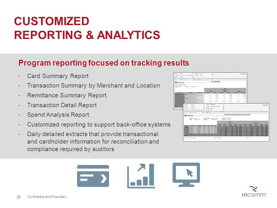 CUSTOMIZED REPORTING & ANALYTICS