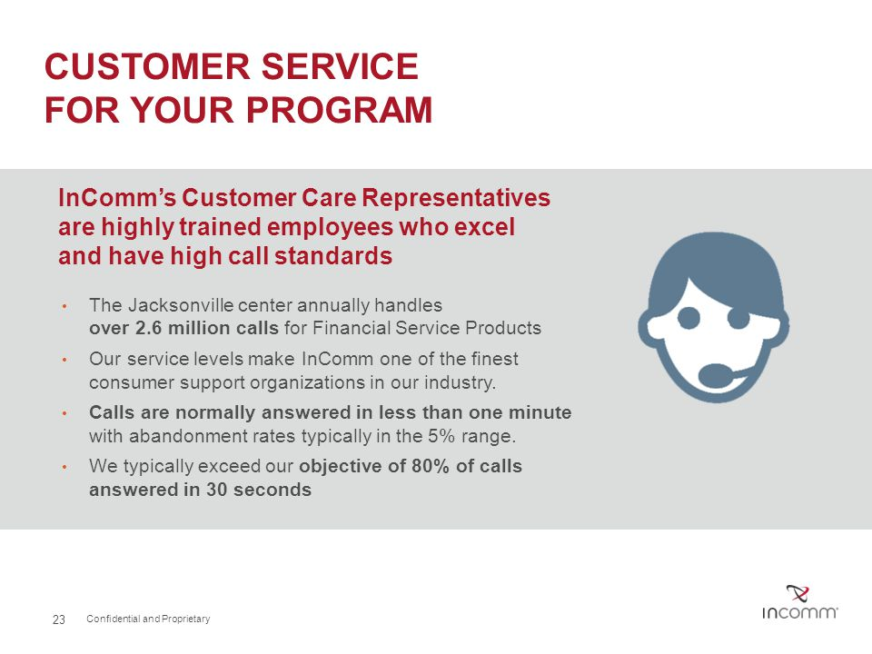 CUSTOMER SERVICE FOR your program