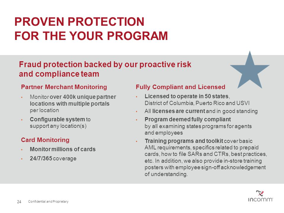 PROVEN PROTECTION FOR THE YOUR PROGRAM