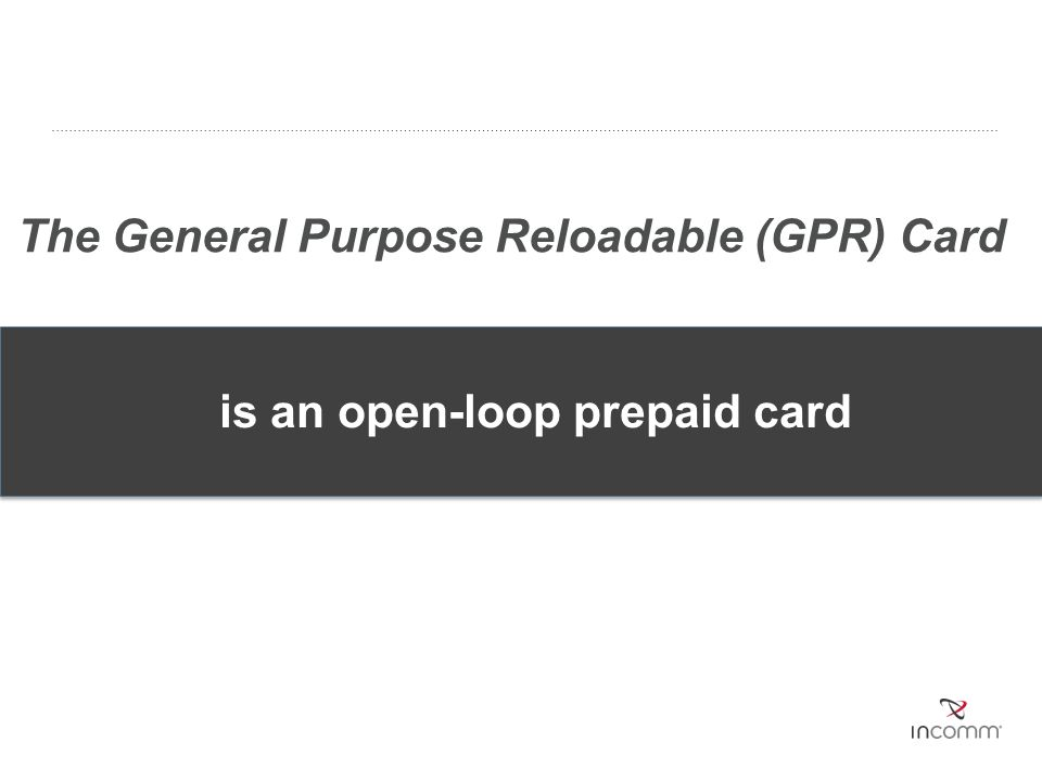 is an open-loop prepaid card
