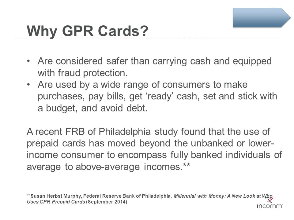 Why GPR Cards Are considered safer than carrying cash and equipped with fraud protection.