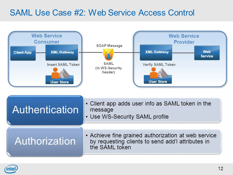 SAML Use Case #2: Web Service Access Control