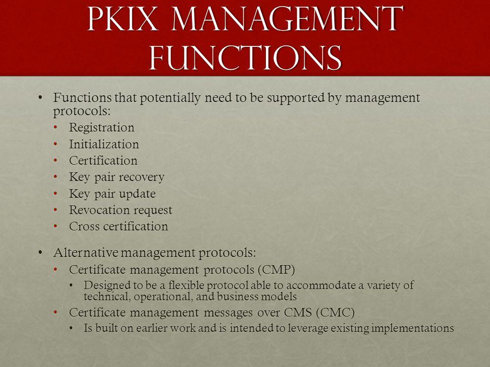 PKIX Management functions