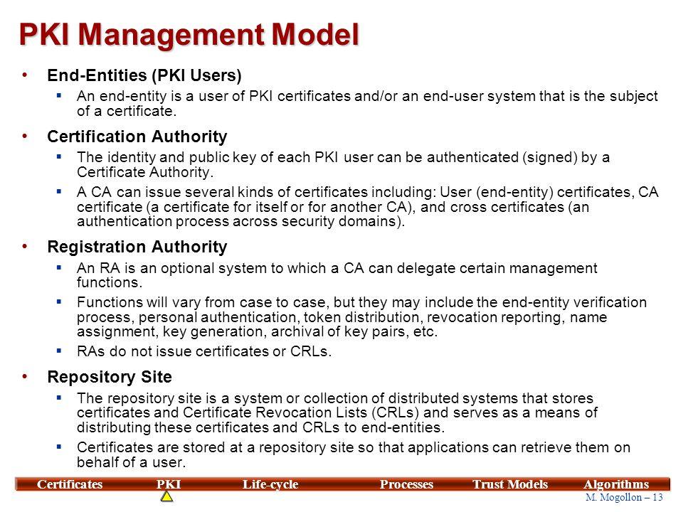 PKI Management Requirements