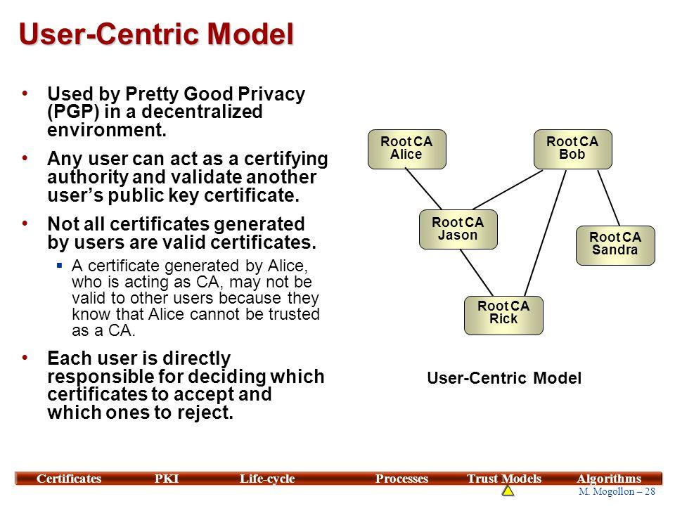 Comparison of Trust Models