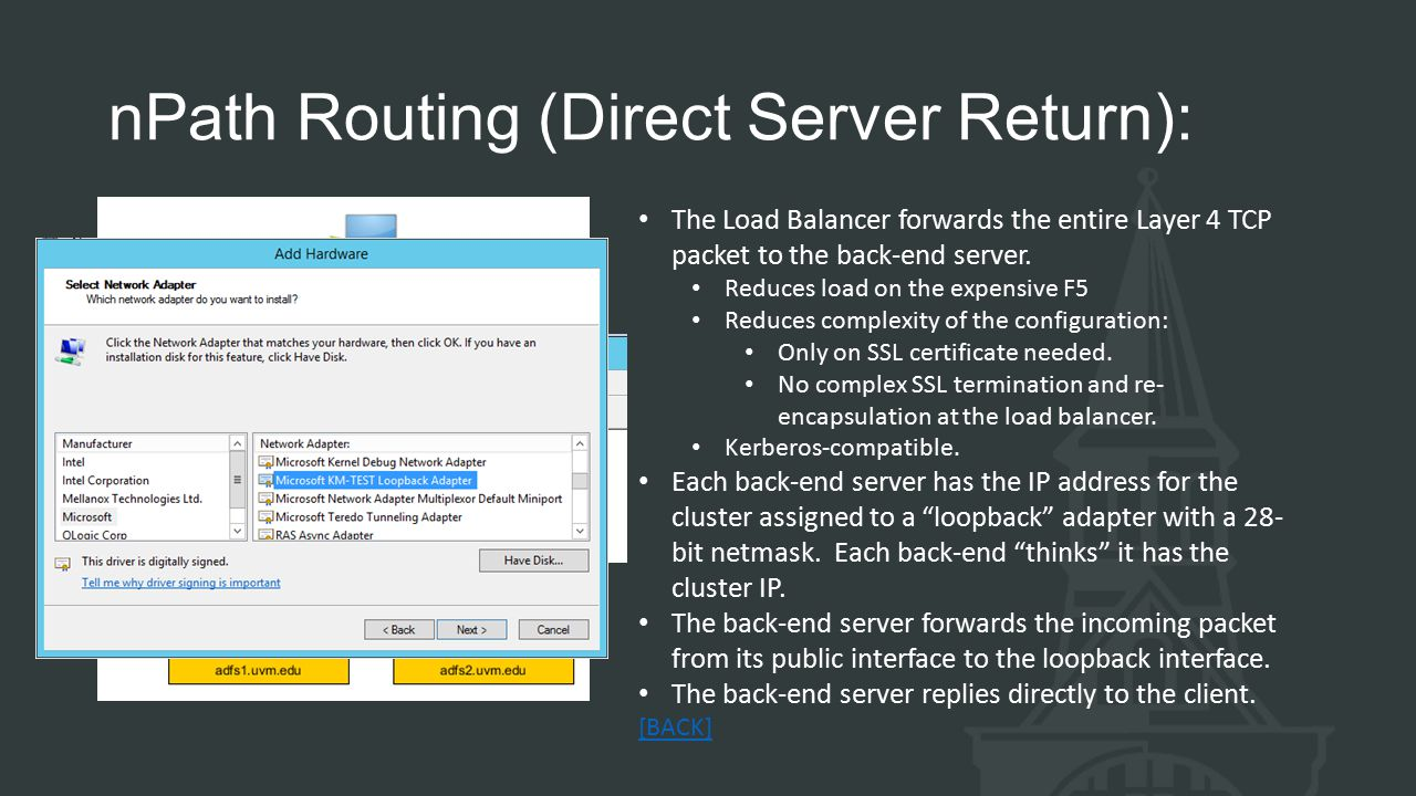 nPath Routing (Direct Server Return):