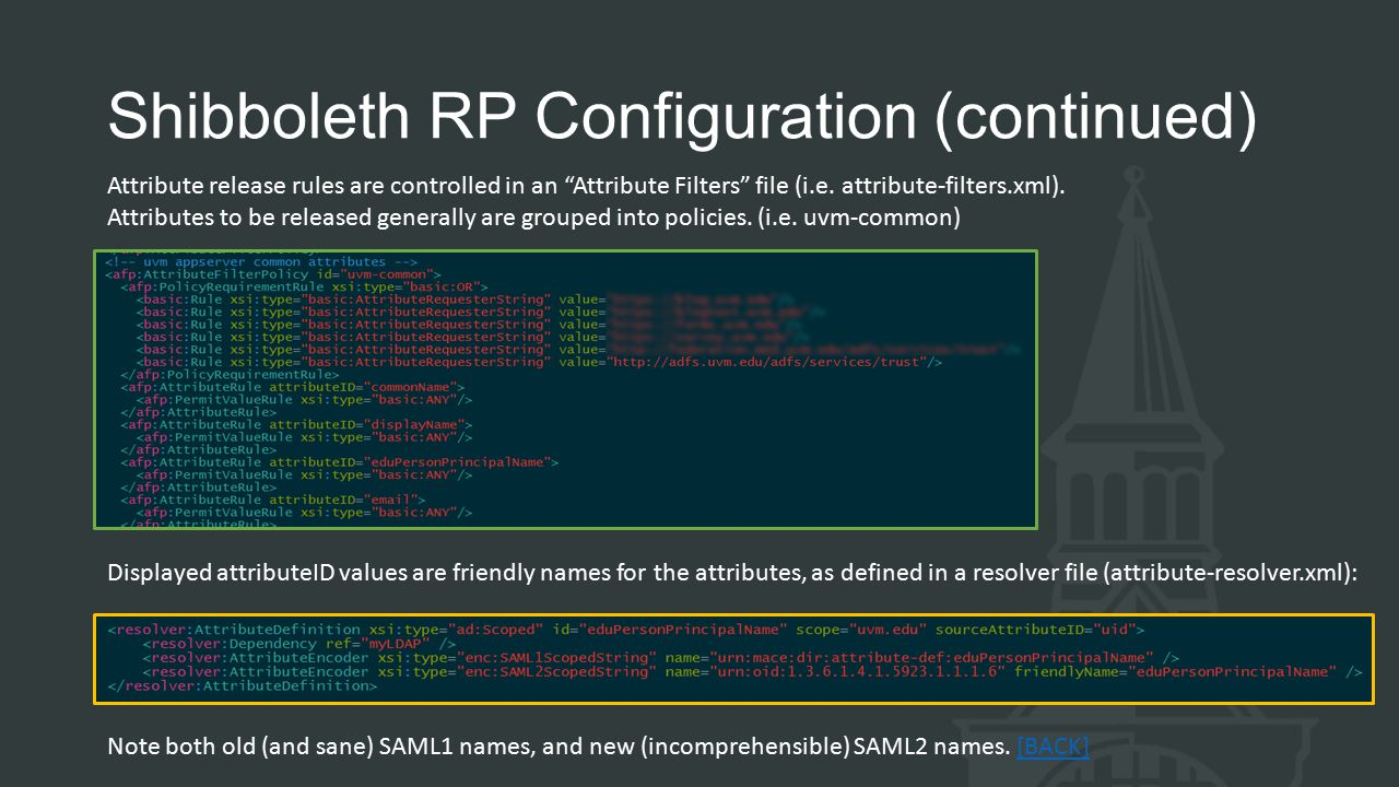 Shibboleth RP Configuration (continued)