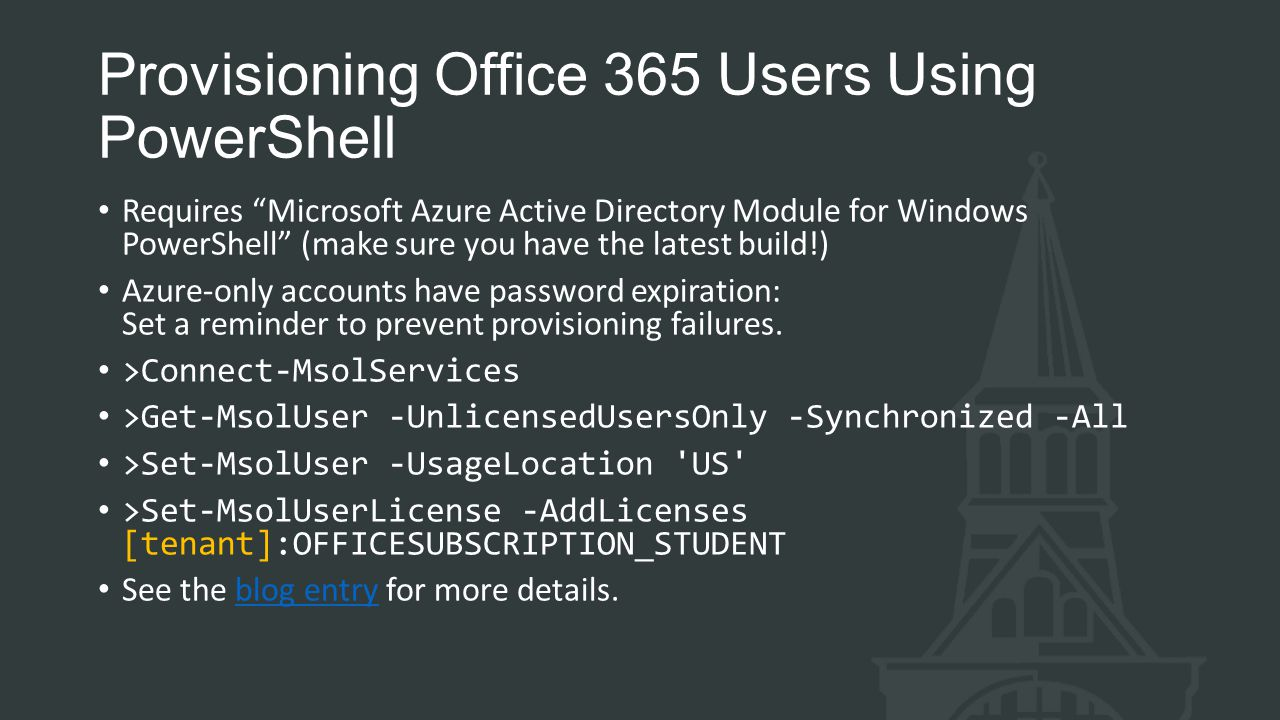 Provisioning Office 365 Users Using PowerShell