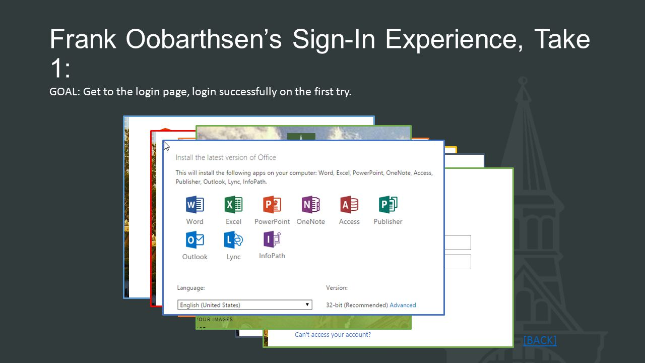 Frank Oobarthsen's Sign-In Experience, Take 1: