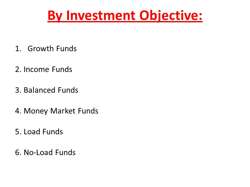 By Investment Objective: