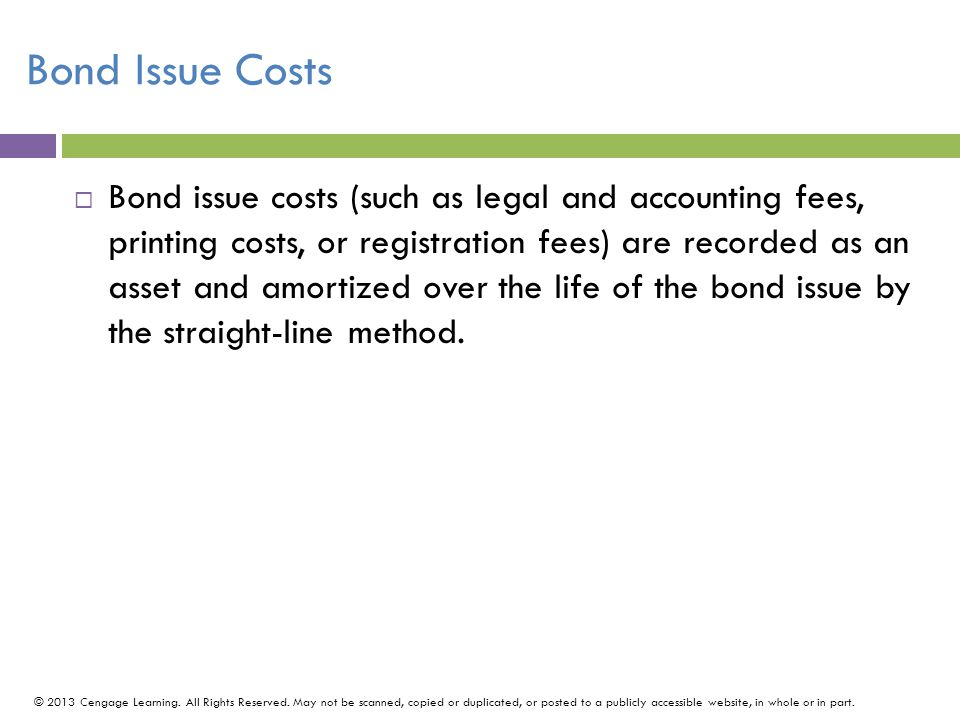 Bond Issue Costs