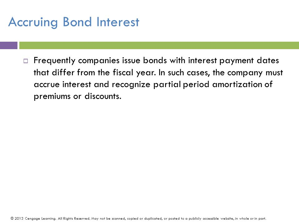 Accruing Bond Interest