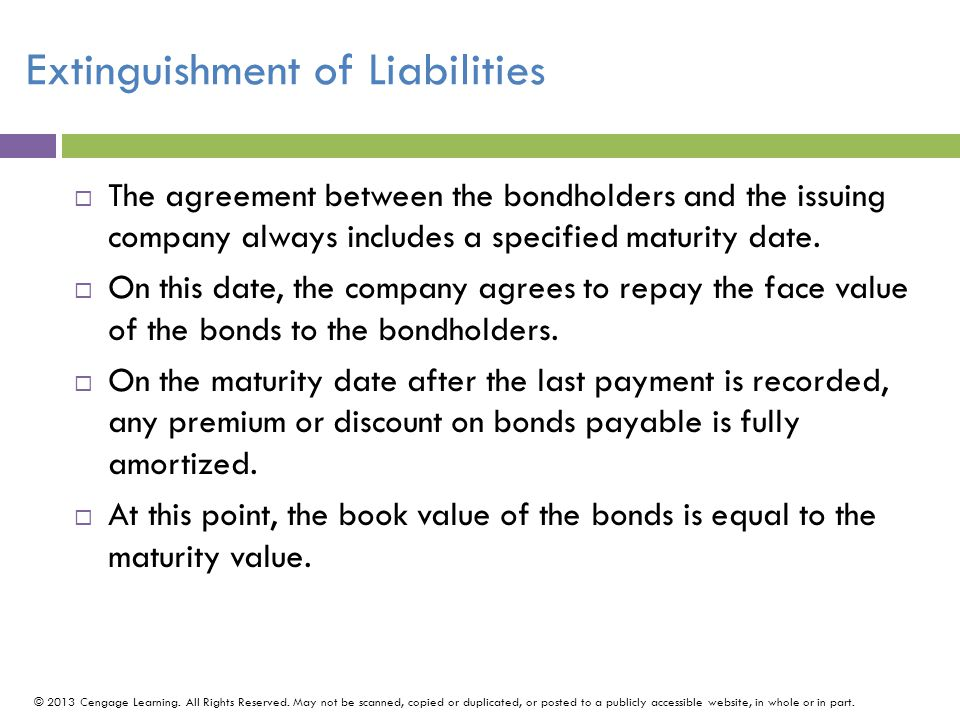 Extinguishment of Liabilities