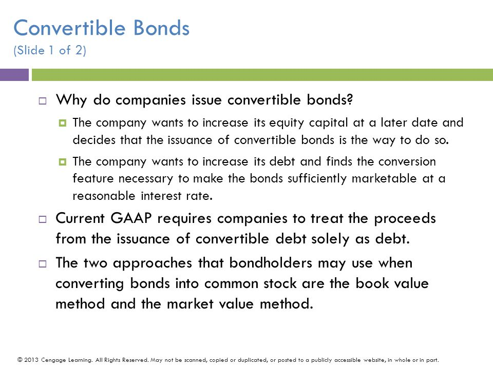 Convertible Bonds (Slide 1 of 2)