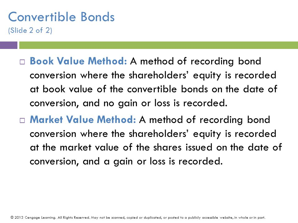 Convertible Bonds (Slide 2 of 2)