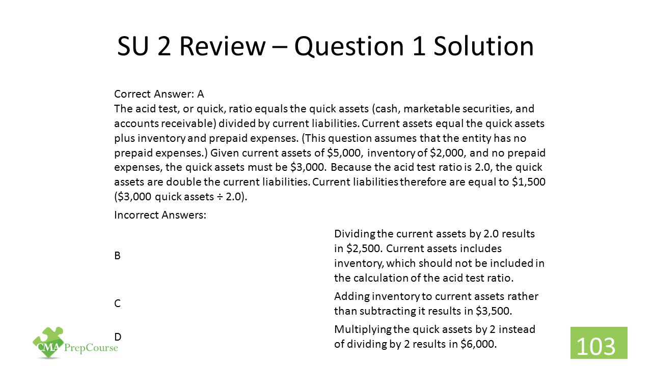 SU 2 Review – Question 1 Solution