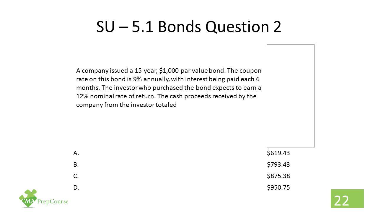 SU – 5.1 Bonds Question 2
