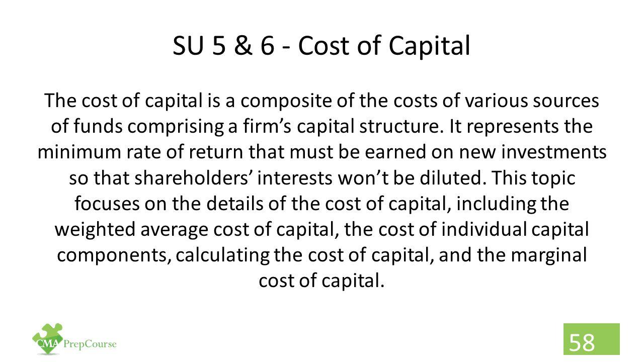 SU 5 & 6 - Cost of Capital