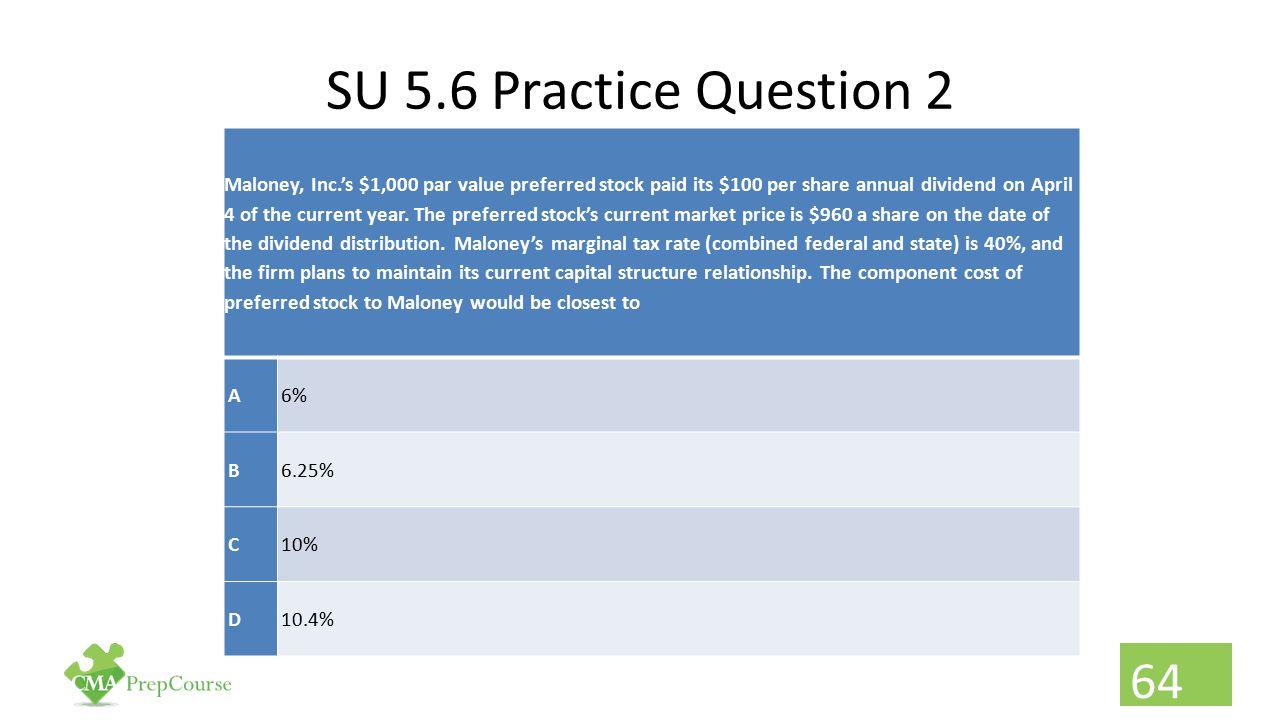 SU 5.6 Practice Question 2