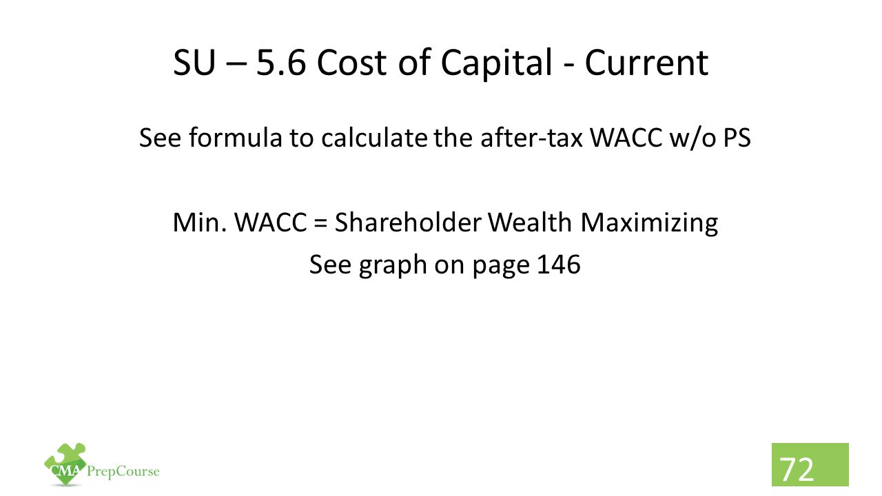 SU – 5.6 Cost of Capital - Current