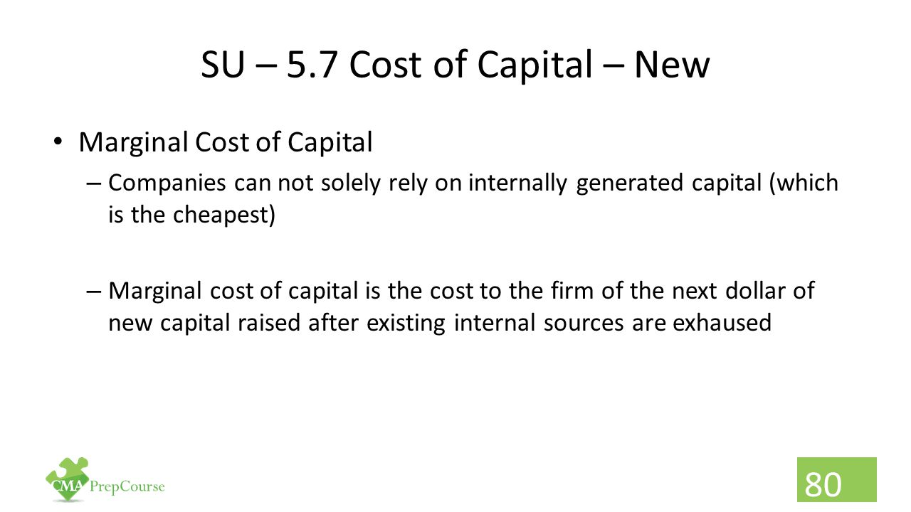 SU – 5.7 Cost of Capital – New
