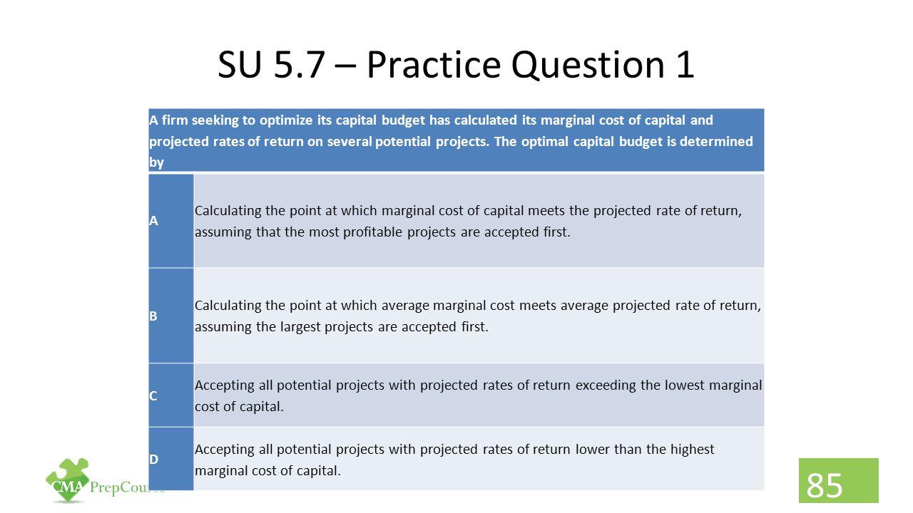 SU 5.7 – Practice Question 1