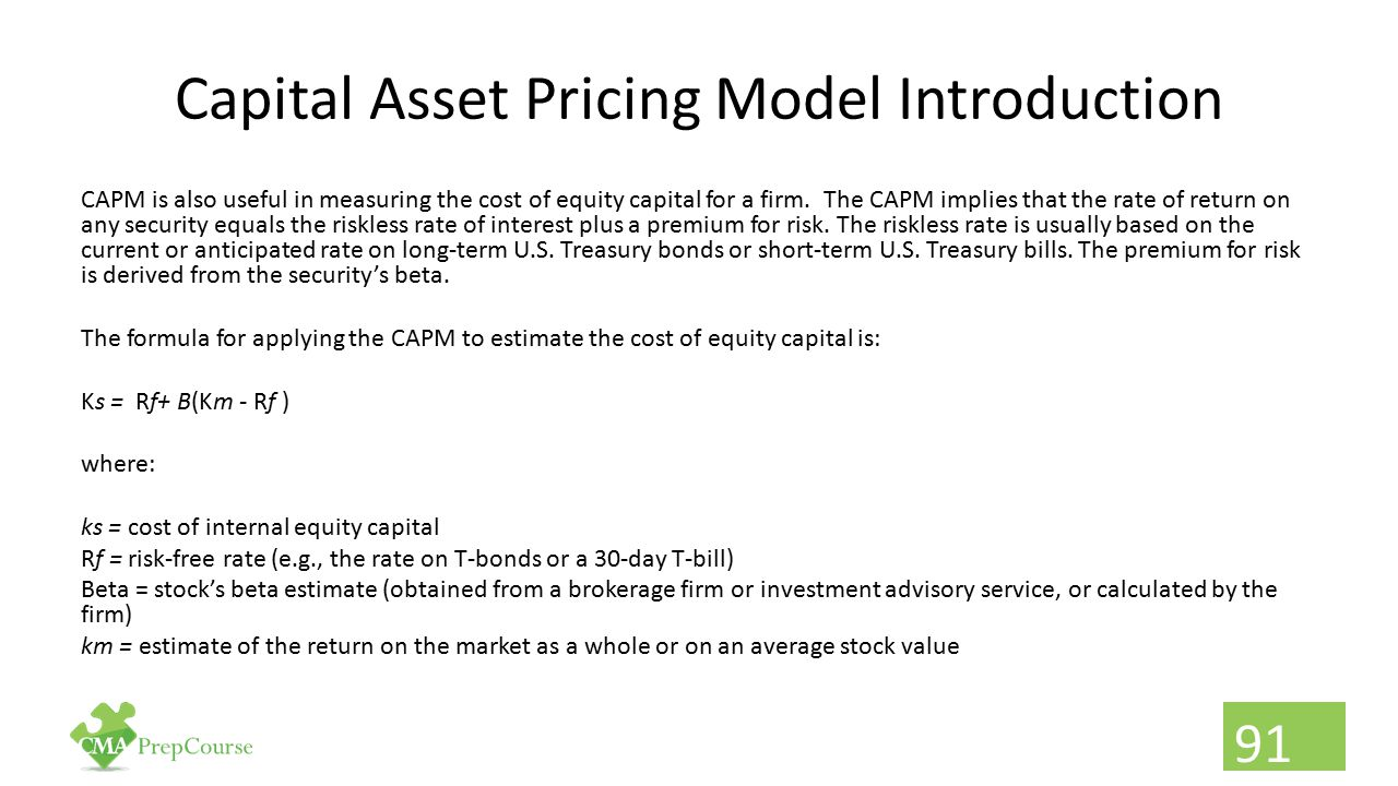 Capital Asset Pricing Model Introduction