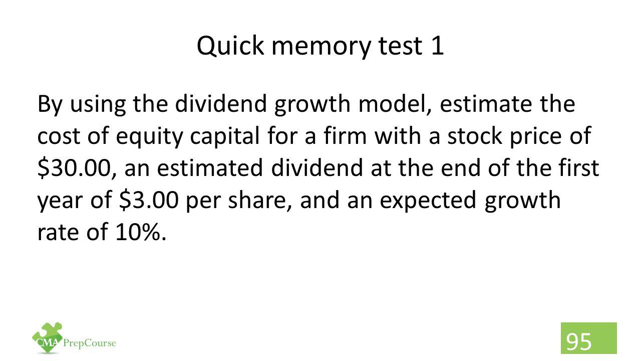 Quick memory test 1