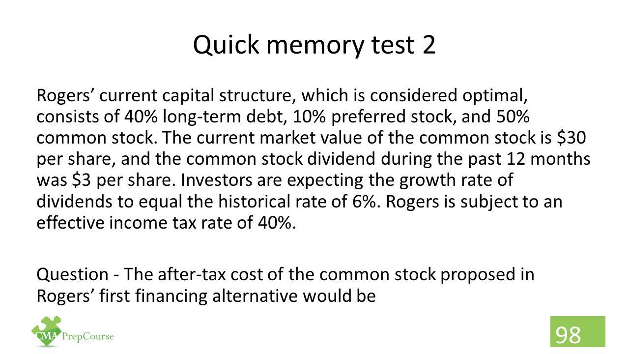 Quick memory test 2
