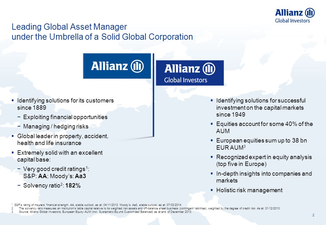 Leading Global Asset Manager under the Umbrella of a Solid Global Corporation