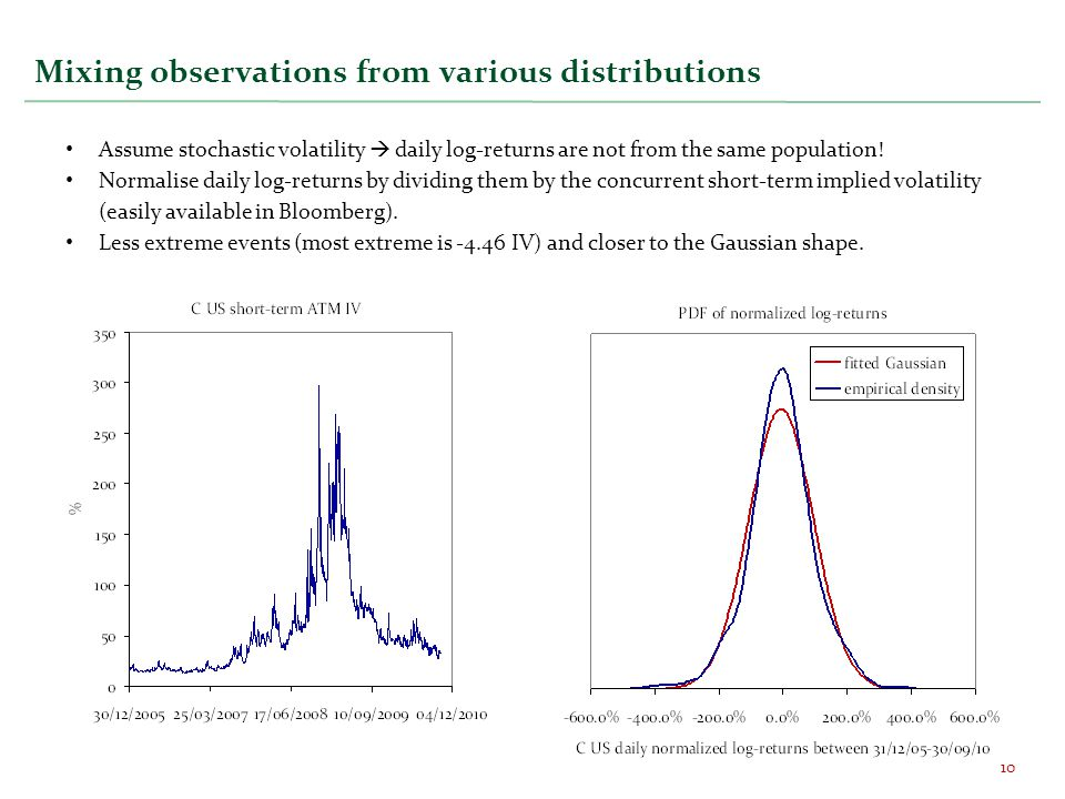 Mixing observations from various distributions
