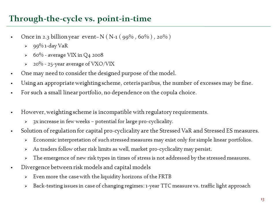 Through-the-cycle vs. point-in-time