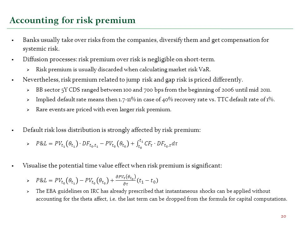 Accounting for risk premium