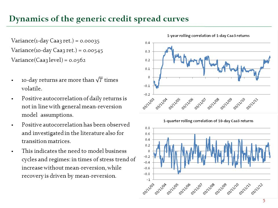 Dynamics of the generic credit spread curves