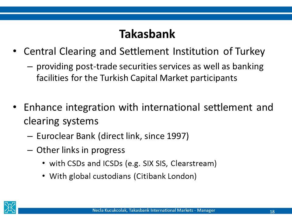Necla Kucukcolak, Takasbank International Markets - Manager