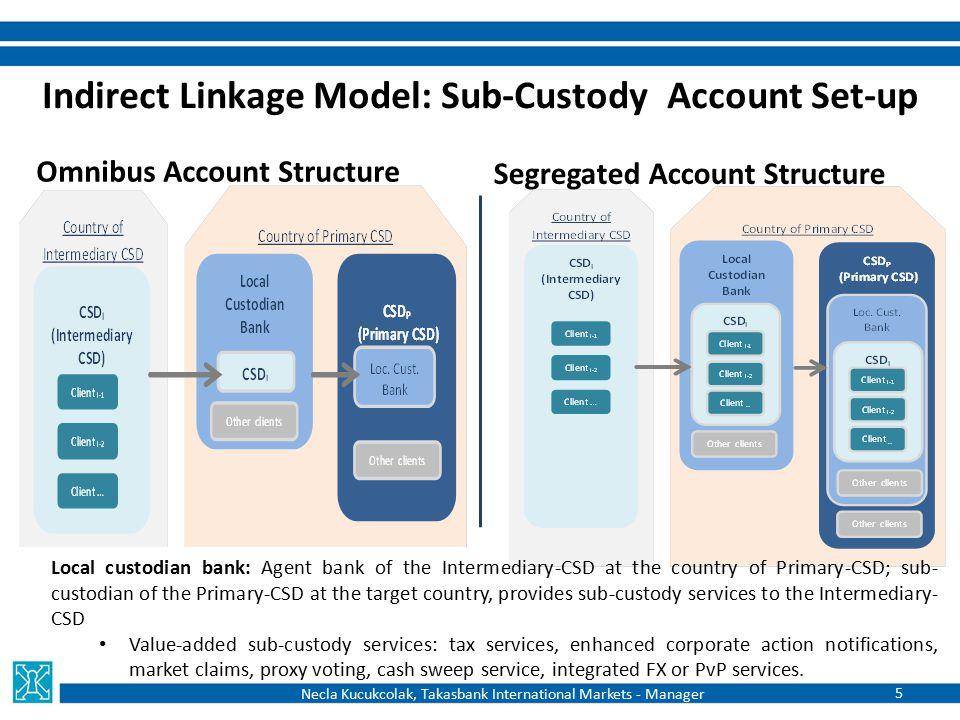 Indirect Linkage Model: Sub-Custody Account Set-up