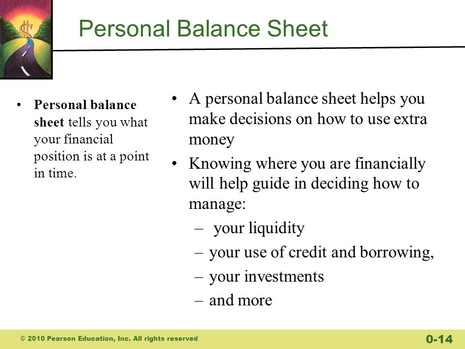 budgets and balance sheets your personal financial statements ppt