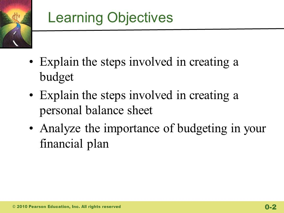 Learning Objectives Explain the steps involved in creating a budget