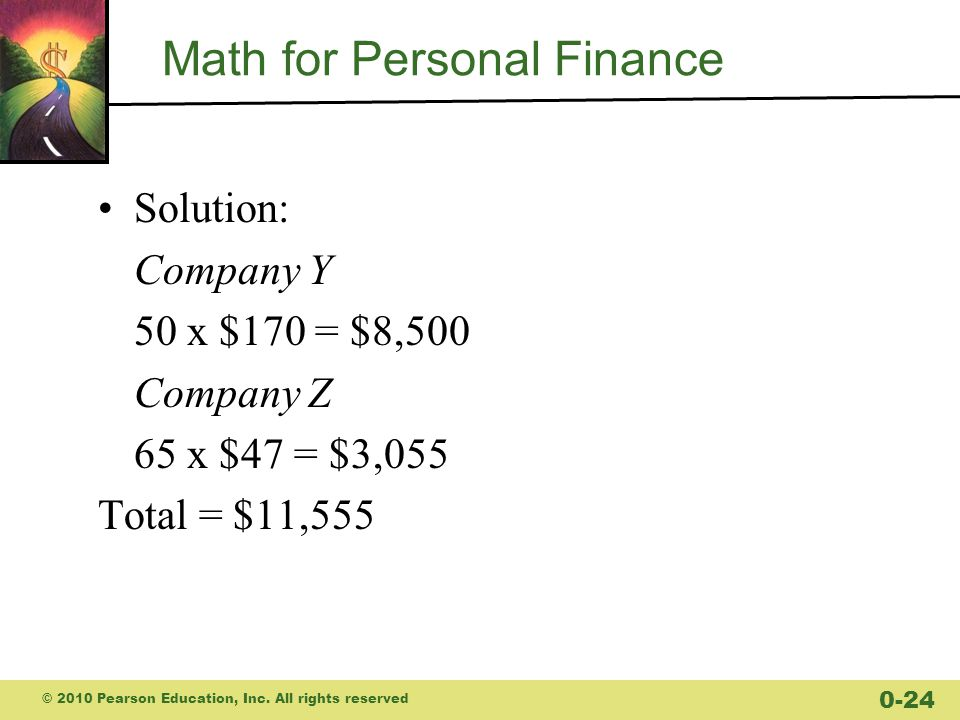 Math for Personal Finance