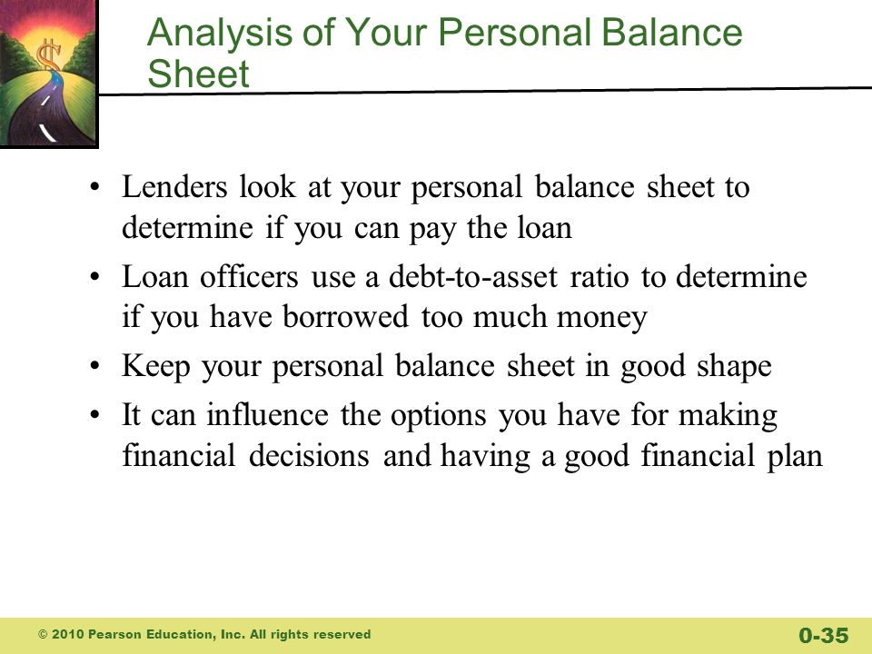 Analysis of Your Personal Balance Sheet