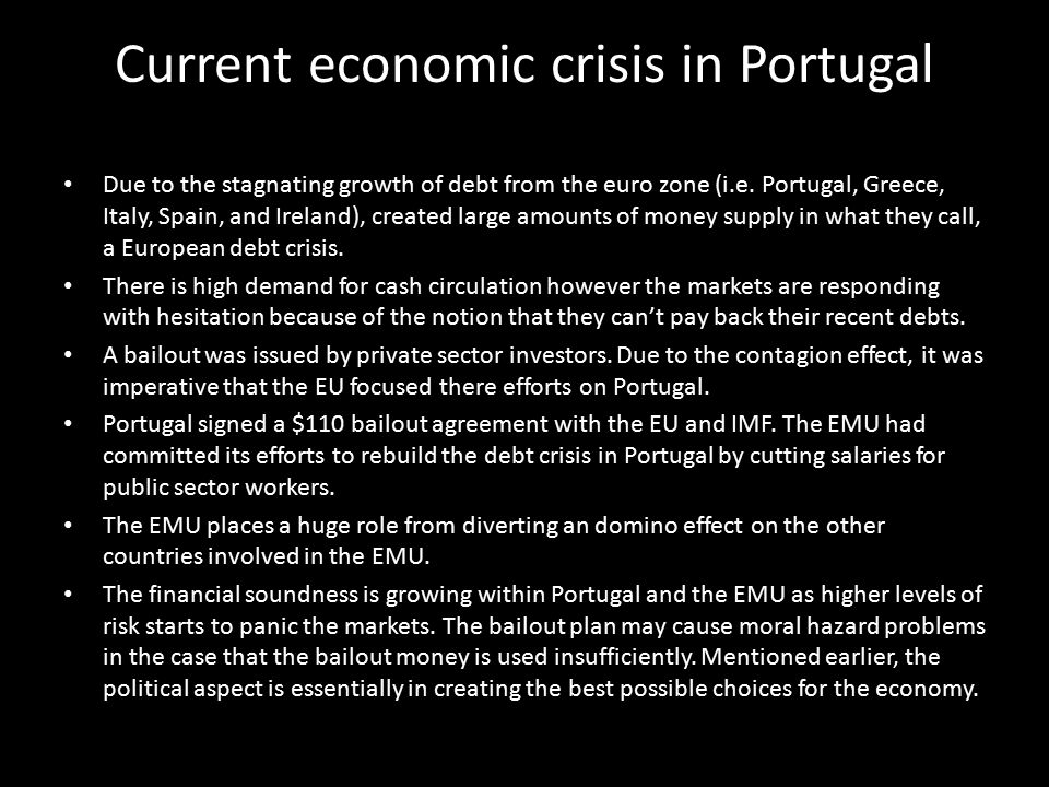 Current economic crisis in Portugal