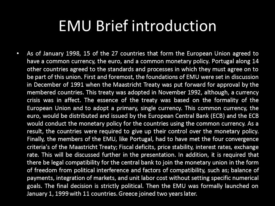 EMU Brief introduction
