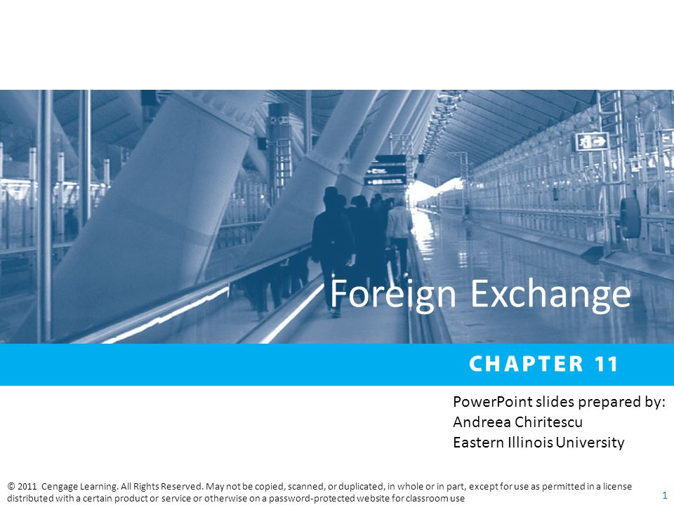 Foreign Exchange PowerPoint slides prepared by: Andreea Chiritescu