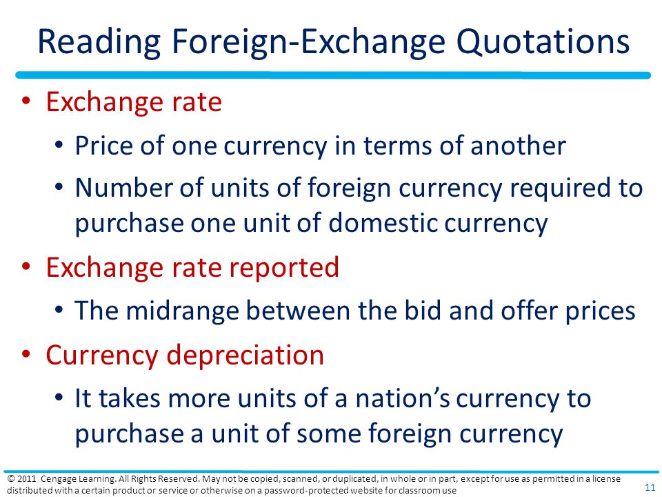 Reading Foreign-Exchange Quotations