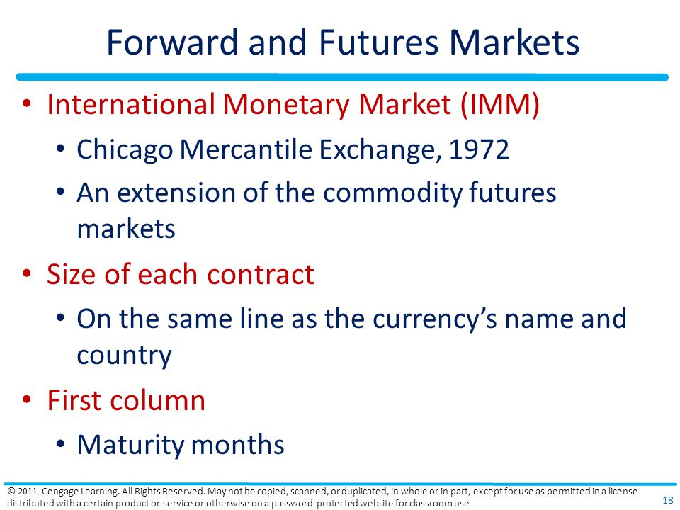Forward and Futures Markets